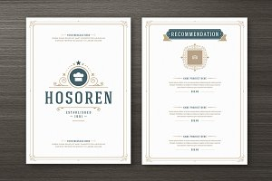 Restaurant Menu with Logo Design