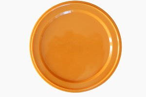 Orange plastic token money