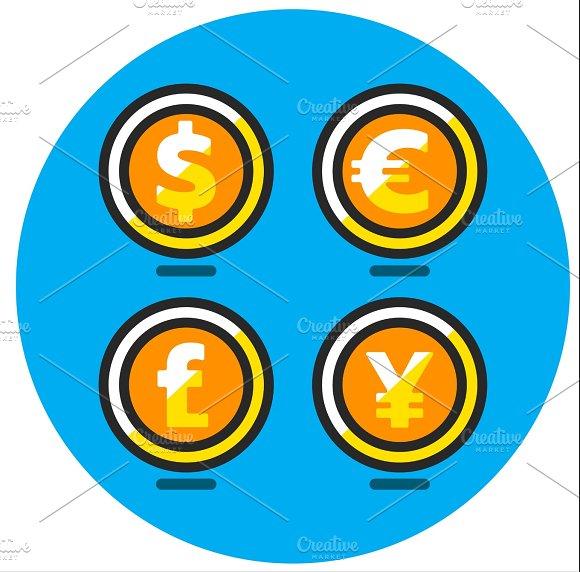 Dollar Euro Pound And Yen