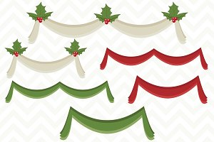 Vector Christmas Bunting Banners