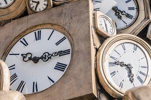 Old fashioned clocks