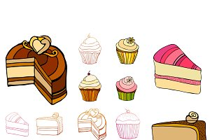 illustrated cakes