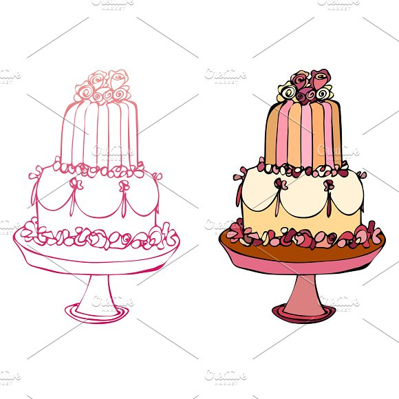 Illustrated Cake