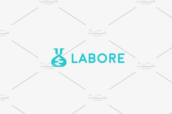 Lab Vector Logo Flask Dna Mark Logotype Science Education Biotechnology Symbol Icon Design
