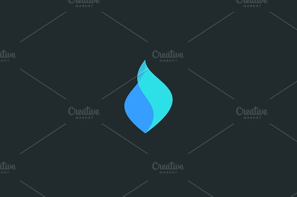 Abstract Water Vector Logo Icon Design Drop Aqua Flow Logotype