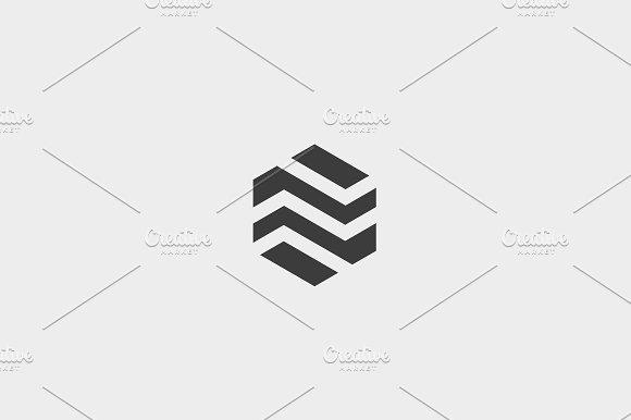 Abstract Business Premium Logo Design Template Hexagon Real Estate Finance Universal Vector Logo Icon