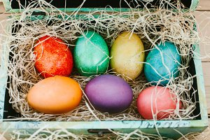 colored eggs for Easter