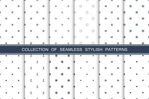 Minimal seamless patterns collection