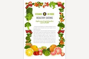 Vitamin C Leaflet Template