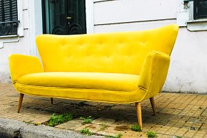 Vintage Sofa in Yellow