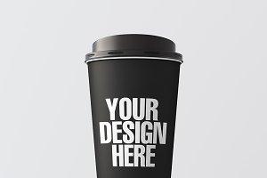 Blank coffee cup mockup 01