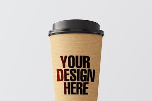 Blank coffee cup mockup 03