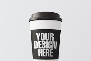 Blank coffee cup mockup 04