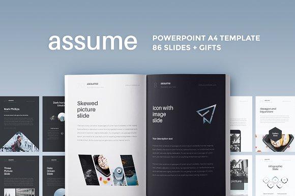 a4 assume powerpoint template presentation templates creative