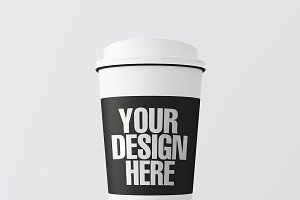 Blank coffee cup mockup 05