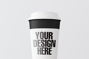 Blank coffee cup mockup 06