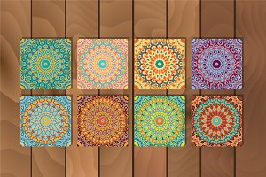 Arabesque seamless pattern set