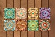Arabesque seamless pattern set