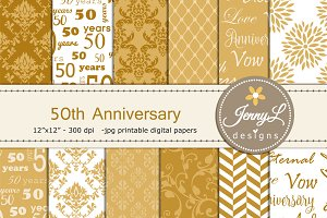 50th Wedding Anniversary Papers