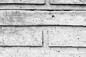 Brick Rustic Wall in Black and White