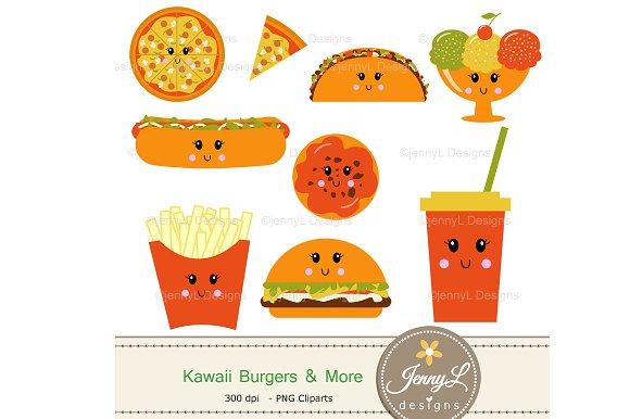 Kawaii Burgers Digital Papers