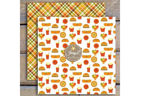 Kawaii Burgers Digital Papers in Patterns - product preview 2