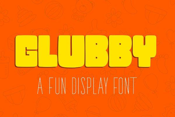 Glubby - Fun Display Font
