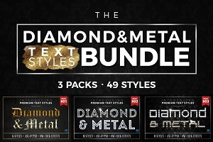 BUNDLE: Diamond & Metal Text Styles