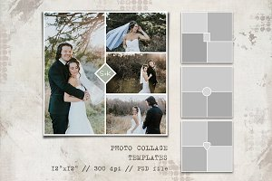 4 Storyboard Collage Templates 12x12