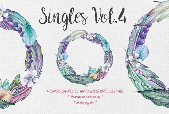 Feather Wreath Singles Vol.4