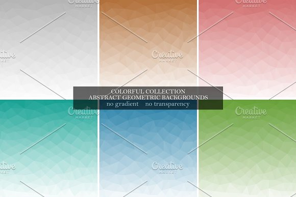 Abstract Color Polygonal Backgrounds