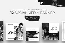 Black & White Social Media Designs