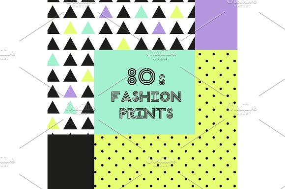 Trendy Background In 80s Style