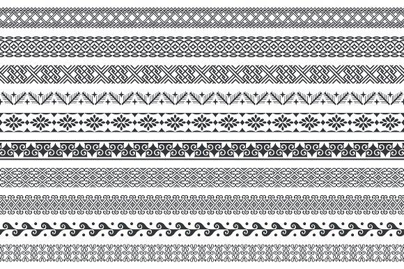 Set Of Seamless Geometrical Dividers