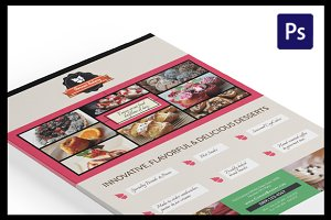 Cake Flyer / Magazine Ad Template