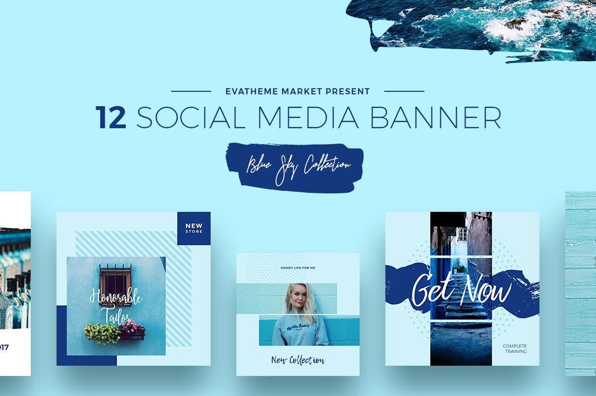 Blue Sky Social Media Designs ~ Instagram Templates ~ Creative Market