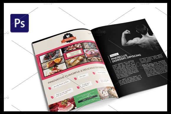 Cake Flyer Magazine Ad Template Flyer Templates Creative Market - Product ad template