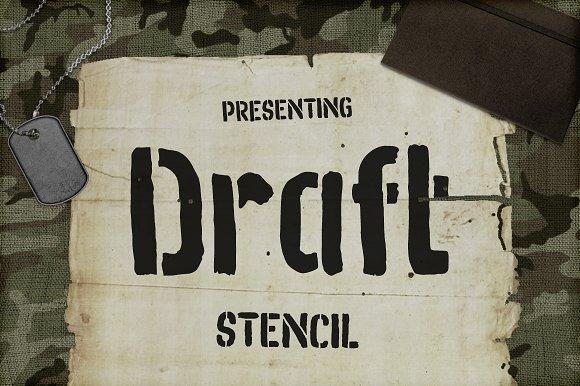 Draft Brush Stencil 50% Off