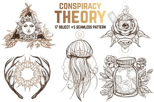Conspiracy theory clipart