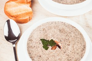 mushrooms cream soup