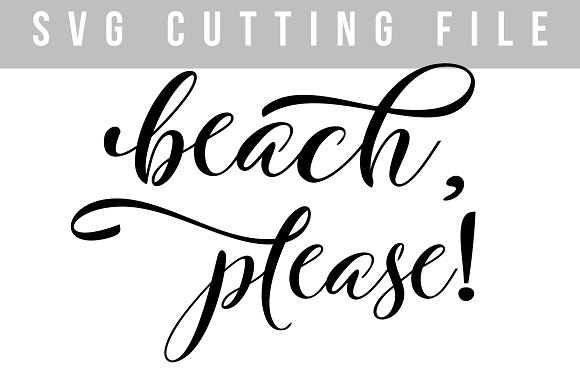 Beach Please SVG PNG EPS
