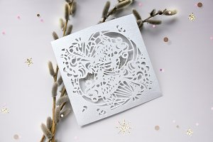 Wedding Envelope Laser Cut Template