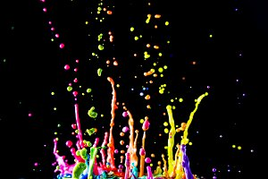 colorful paint jumping