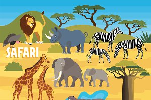 Africa Safari Animal Set