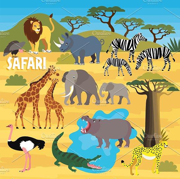 Africa Safari Animal Set