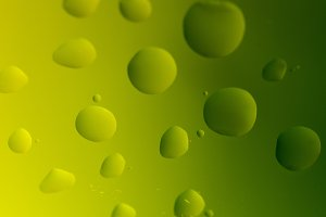 Oil Drops on Yellow - Green