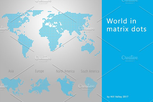 World Maps In Dots