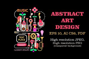 Abstract Music Design vector artwork