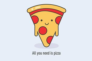 All you need is pizza - EPS