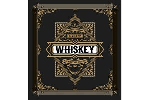 Western label for whiskey or other products.